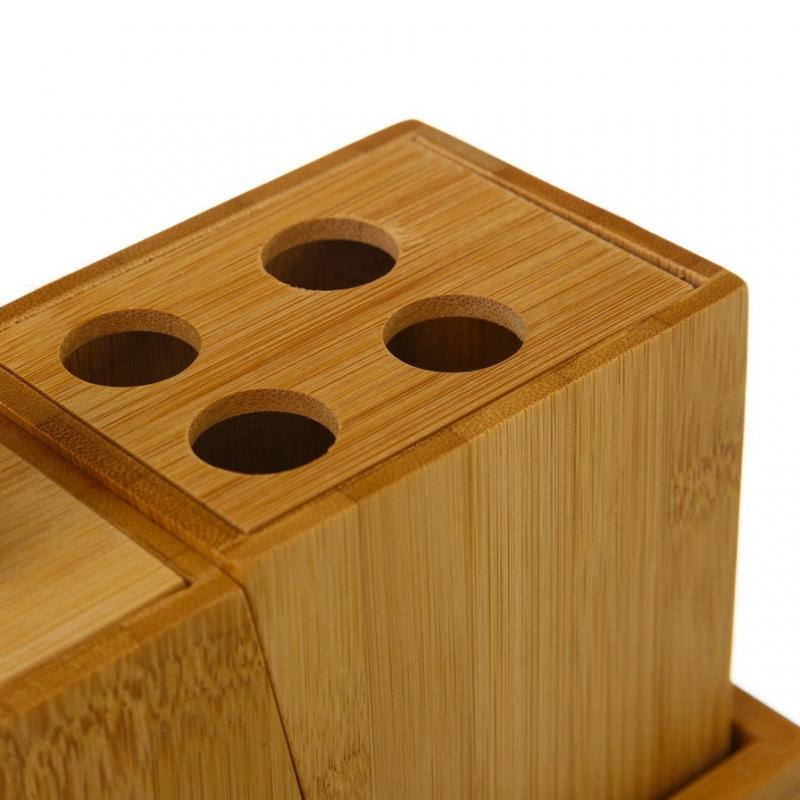 Accesorios de ba o n rdicos marrones de bamb para cuarto for Accesorios de almacenamiento de bano