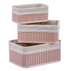 Cajas de bambu rosa para dormitorio Fantasy