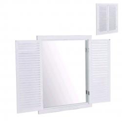Espejo ventana blanco para pared 50x3x65 cm