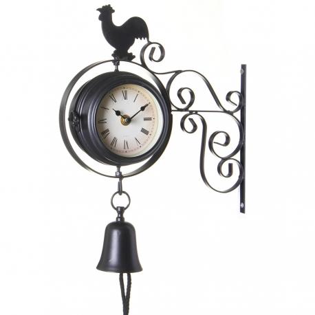 Estacion Doble NegroDcasa es Reloj Cara Clasico J13KcTlF