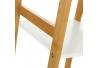 Estantería de 4 baldas nórdica blanca de bambú para cuerto de baño Basic