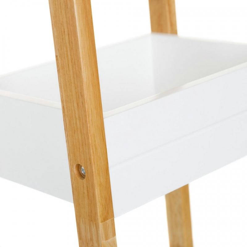 Estanter a de 3 baldas n rdica blanca de bamb para cuarto de ba o basic dcasa - Baldas para bano ...