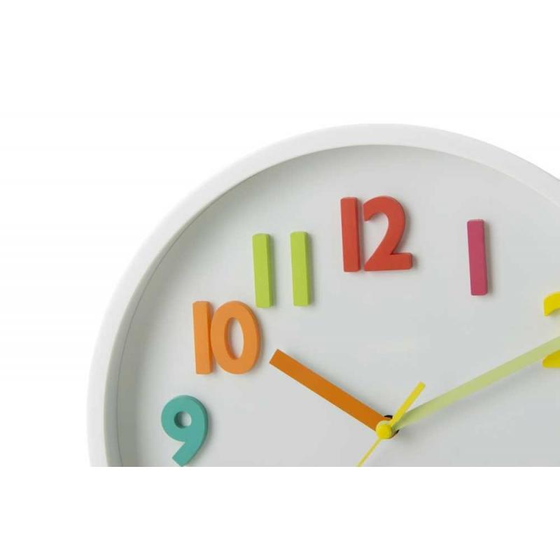 255d68ffac65 Reloj de pared infantil blanco de plástico para dormitorio Child ...