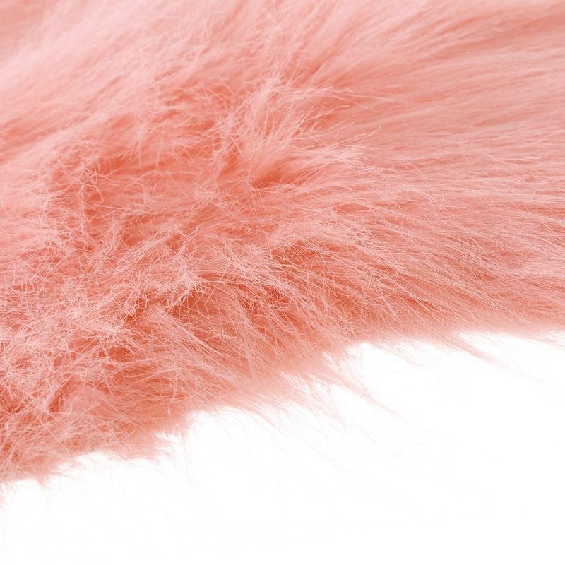 alfombra de pelo rosa de microfibra moderna para