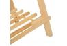 Banco auxiliar minimalista marrón de madera para cuarto de baño Vitta