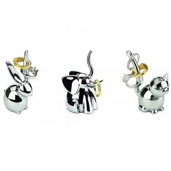 d39768f372ad Plato joyero plata gato y elefante stoneware - Set 2 pieza