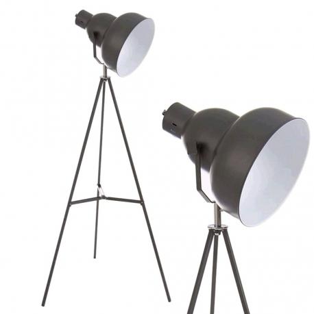 Lámpara de pie metal industrial .