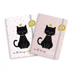 Libreta moleskin cat lover 10x14cm Pack 2 ud.