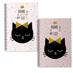 Libretas A4 cat lover - Pack 2 ud.