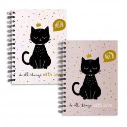 Libretas A5 diseño Cat lover - Pack 2 ud.