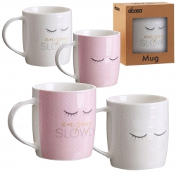 Set 4 taza ceramica Chic en caja de regalo