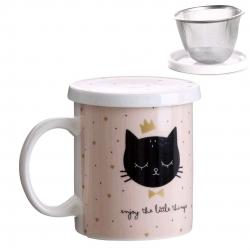 Taza con filtro Cat lover