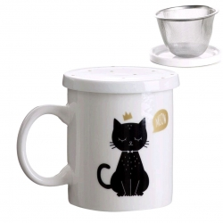 Taza con filtro Cat lover