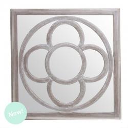 Mural de espejo cuadrado modernista natural 60x60 cm