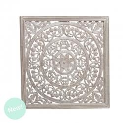 Panel cuadrado madera natural 60x60 cm