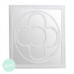 Mural de espejo cuadrado modernista blanco 60x60 cm