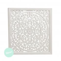 Panel cuadrado madera blanco 60x60 cm