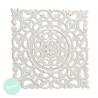 Panel cuadrado madera blanco 40x40 cm