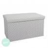 Puff banqueta plegable minimalista blanco estrellas para dormitorio