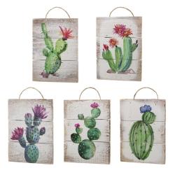 Set 5 cuadro abeto cactus 15x20 cm