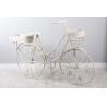 Plantero bicicleta forja de color crema 134x33x88 cm