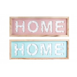 Decoracion pared diseño home led 40X13.5 cm