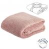 Manta poliester color rosa 125x170 cm