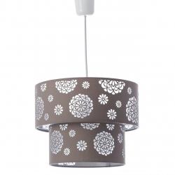 Lámpara de techo moderna beige de poliéster para salón