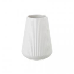 Jarrón de cerámica blanco de diseño nórdico para decoración Vitta