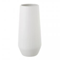 Jarrón de cerámica blanco de diseño nórdico para salón Vitta
