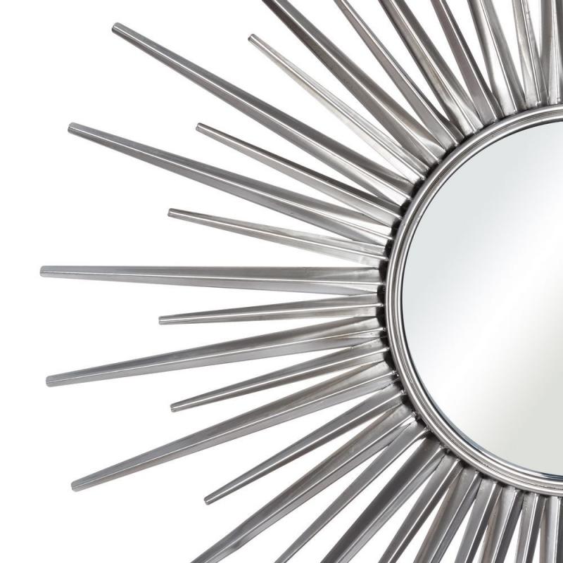 Espejo de metal sol plateado moderno para sal n de 85 cm - Espejo salon moderno ...