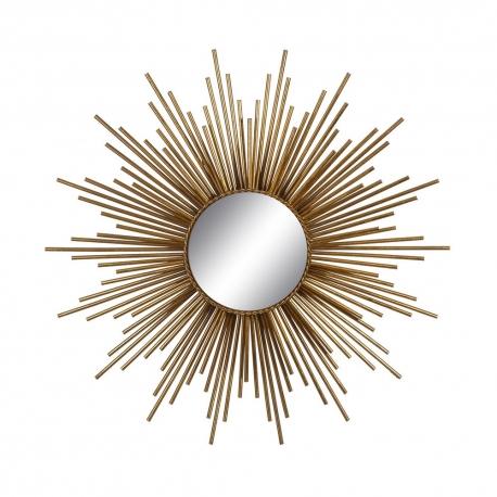 Espejo sol de metal dorado moderno para sal n de 80 cm sol - Espejo sol dorado ...