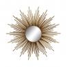 Espejo sol de metal dorado moderno para salón de 80 cm Sol Naciente