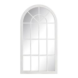 Espejo de ventana de madera blanco provenzal para salón de 70 x 130 cm France