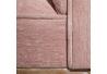 Banqueta pie de cama de madera rosa romántica para dormitorio France