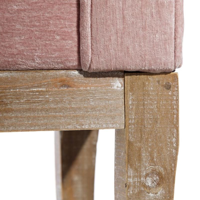 Banqueta pie de cama de madera rosa rom ntica para for Banquitas de madera para jardin
