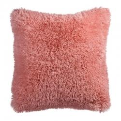 Cojín pelo rosa poliester 60x60 para habitacion romantico