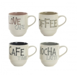 Set 4 taza gres para cafe