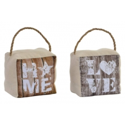 Set 2 tope de puerta poliester Love & Home