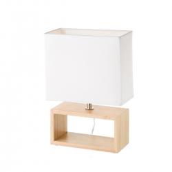Lámpara de sobremesa de madera blanca nórdica para salón Fantasy