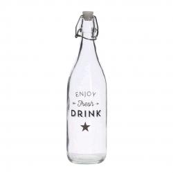Botella cristal de agua 1L bistro