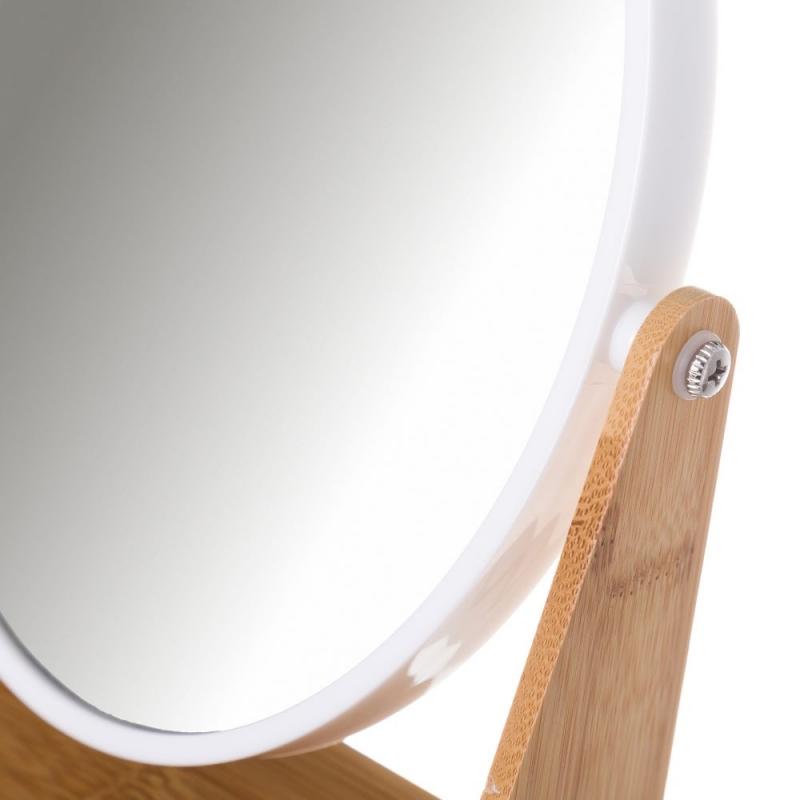 Espejo de 2 aumentos blanco de bamb n rdico para cuarto for Espejo 8 aumentos