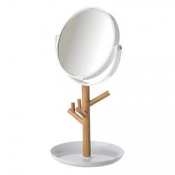 Espejo de 2 aumentos blanco de bamb n rdico para cuarto - Espejo nordico ...