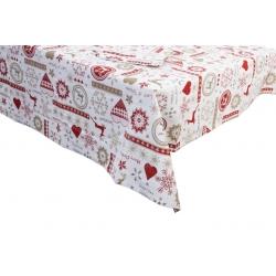 Mantel mesa navidad 150x250 con 8 servilletas