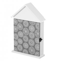 Caja de llaves nórdica blanca de madera para la entrada Vitta