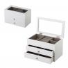 Joyero de madera con 2 cajones blanco minimalista para dormitorio Fantasy