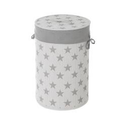 Cesto para ropa de bambú blanco moderno para cuarto de baño Child