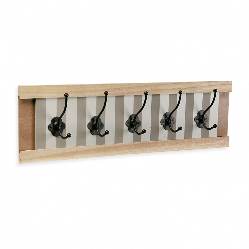 Perchero pared 5 colgador madera provenzal for Perchero pared infantil