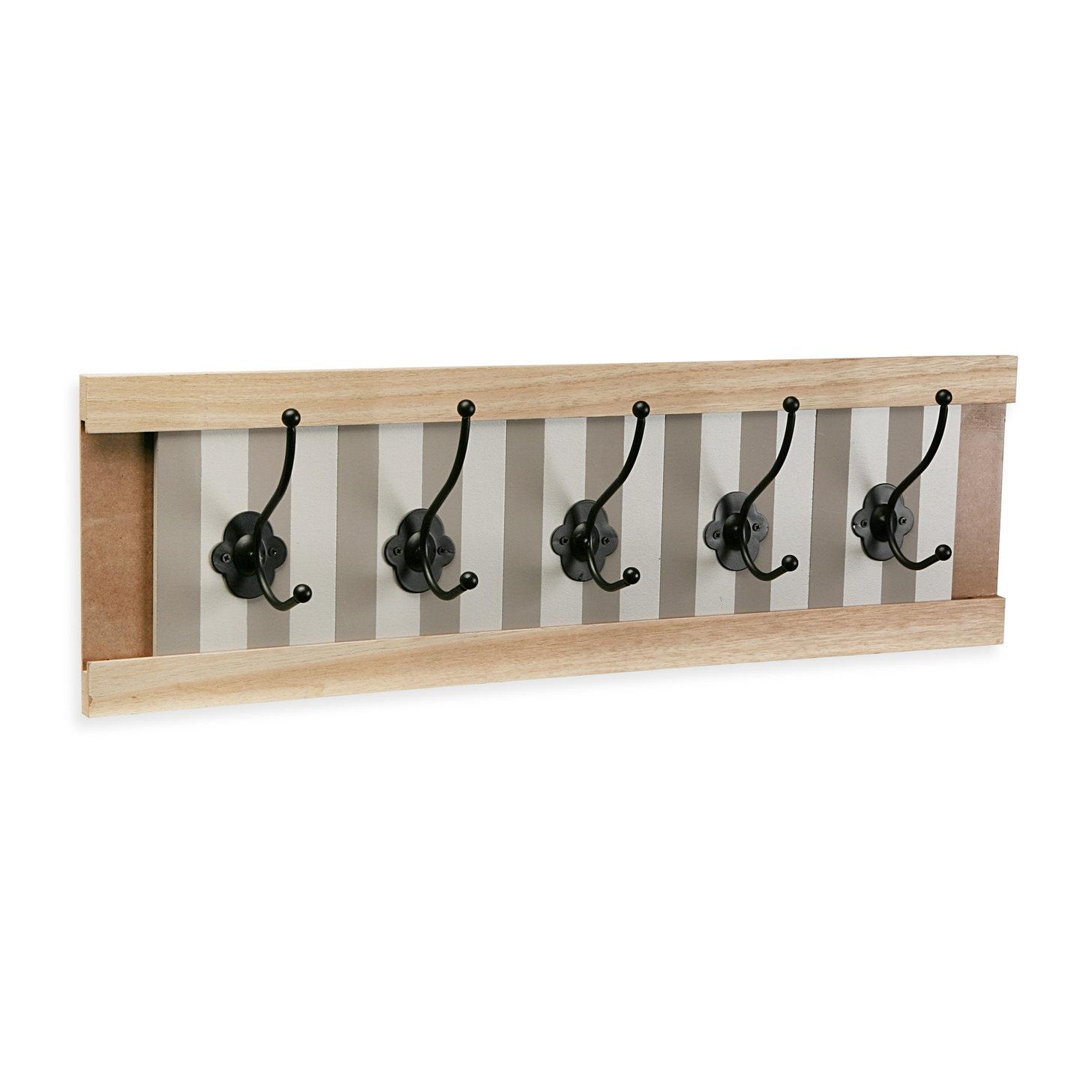 perchero pared 5 colgador madera provenzal - Percheros Originales