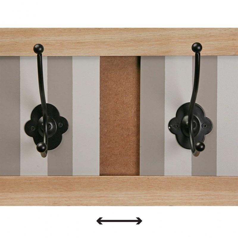 Perchero pared 5 colgador madera provenzal - Percheros para banos ...